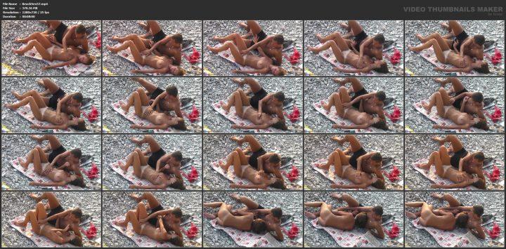 Couple has anal sex on the beach