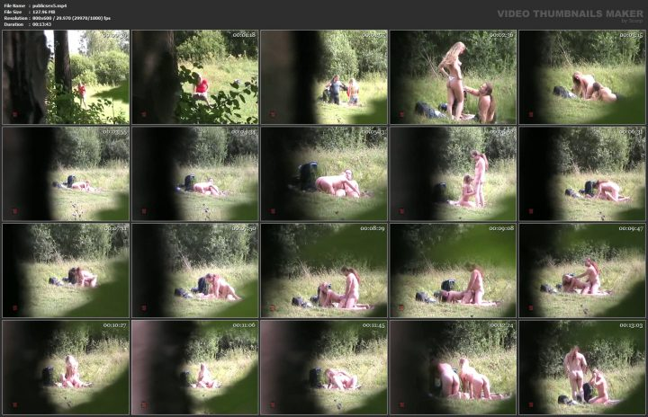 Young and old outdoor sex