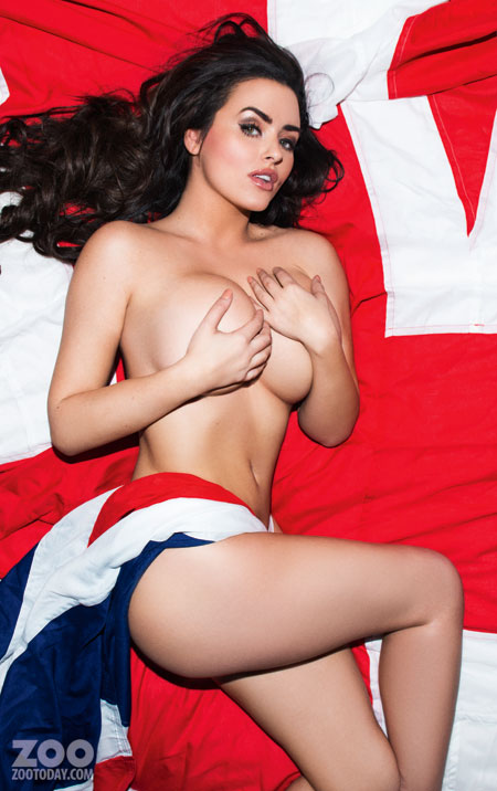 Glamour Model Abigail Ratchford Sexiest In An American Flag