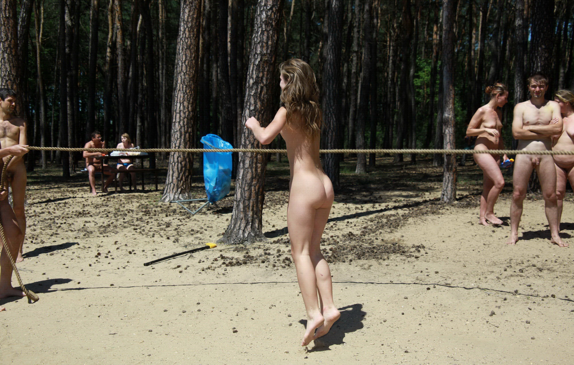 Cute family nudist video