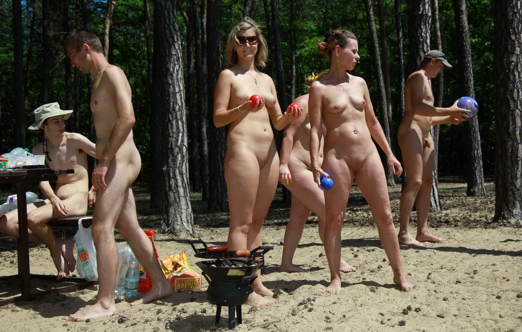 Nudist beach picture family