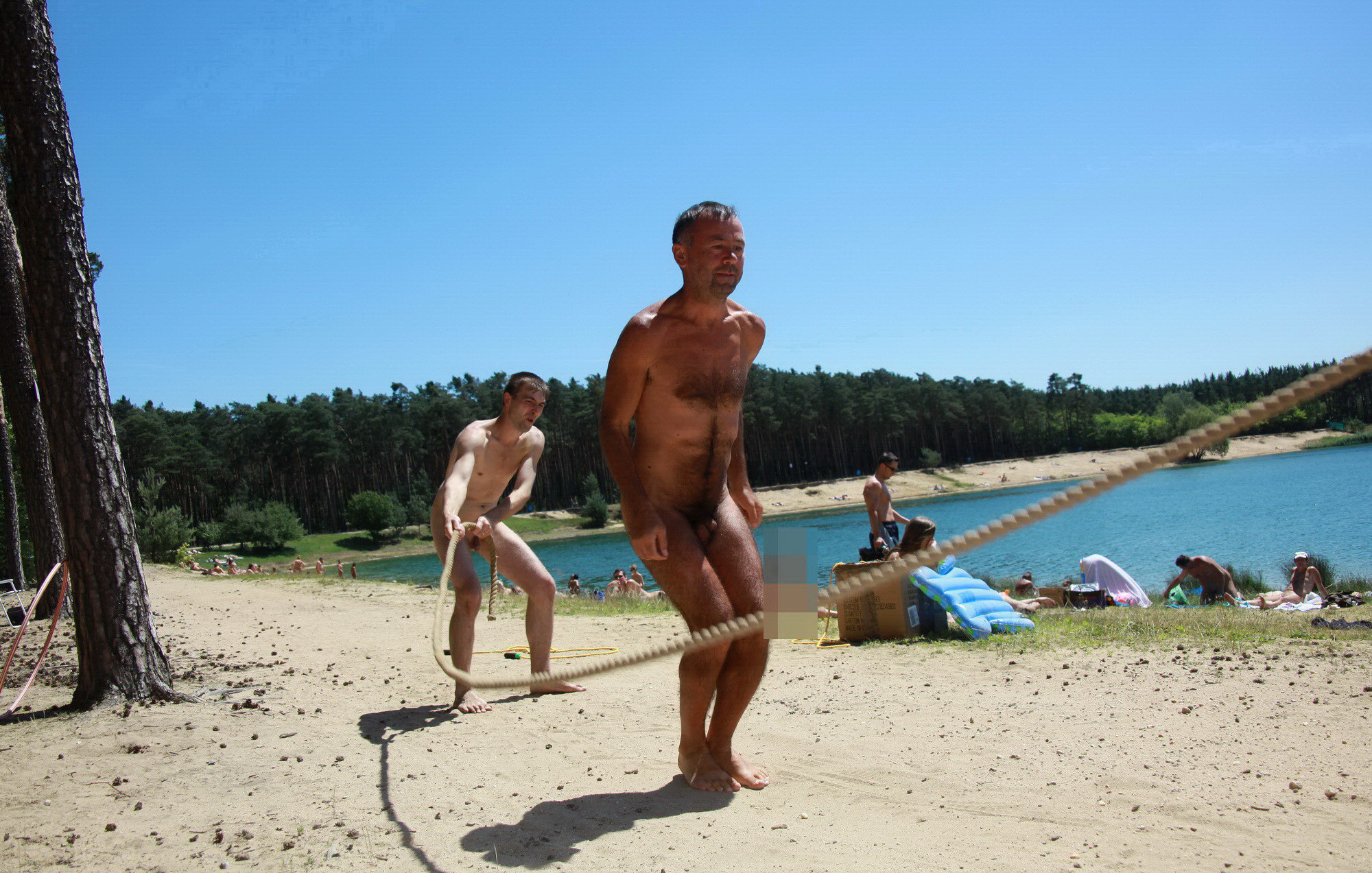 Nudist family beach photos