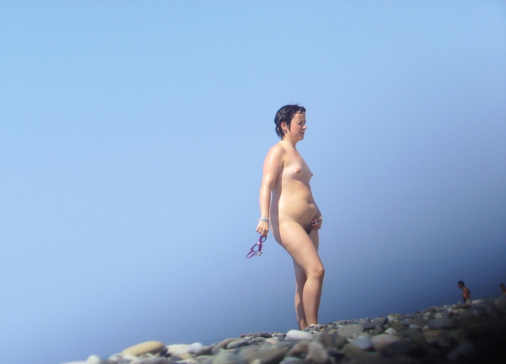 Teen girls nude at beach