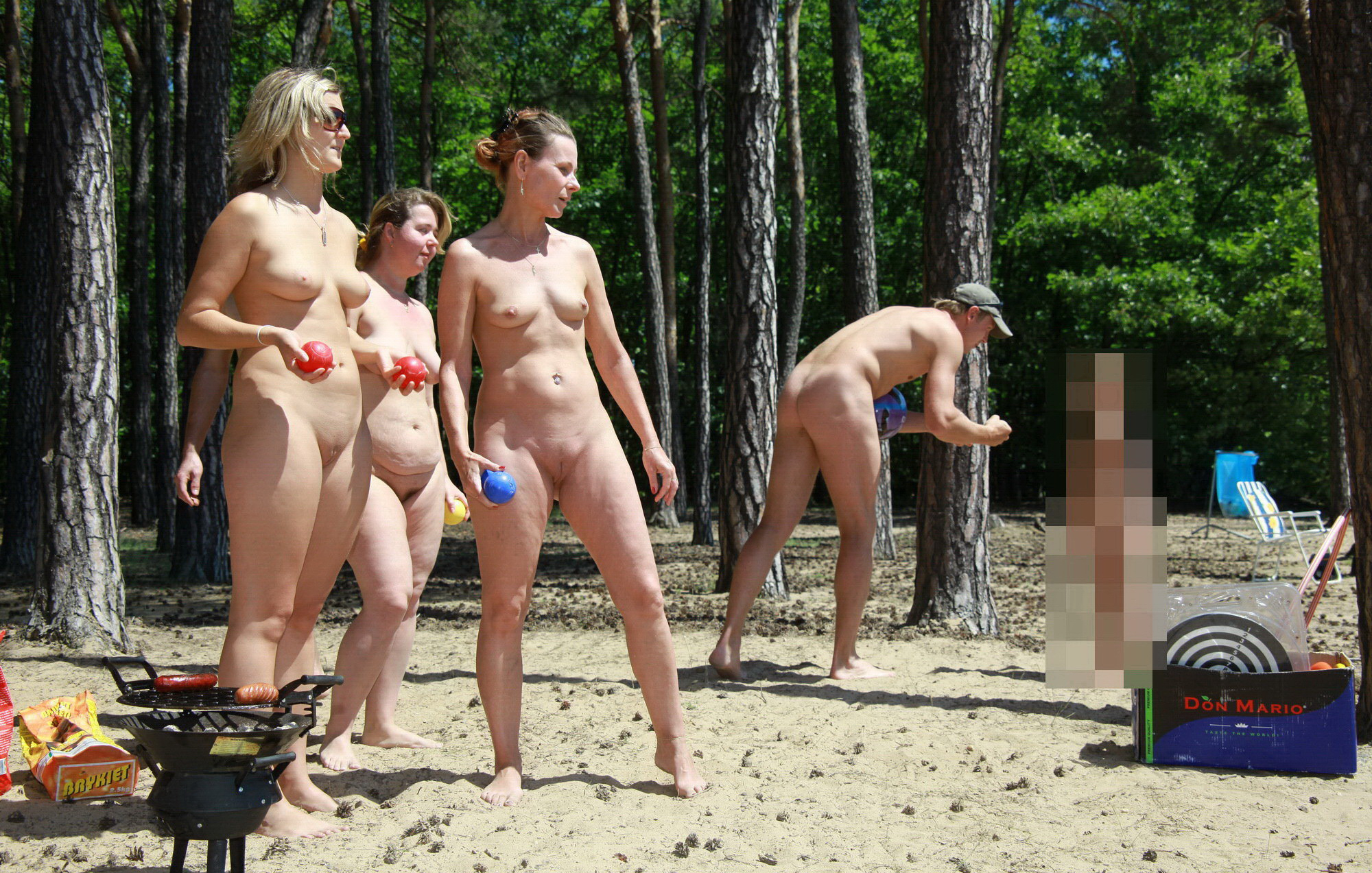 Winter nudist families heaven