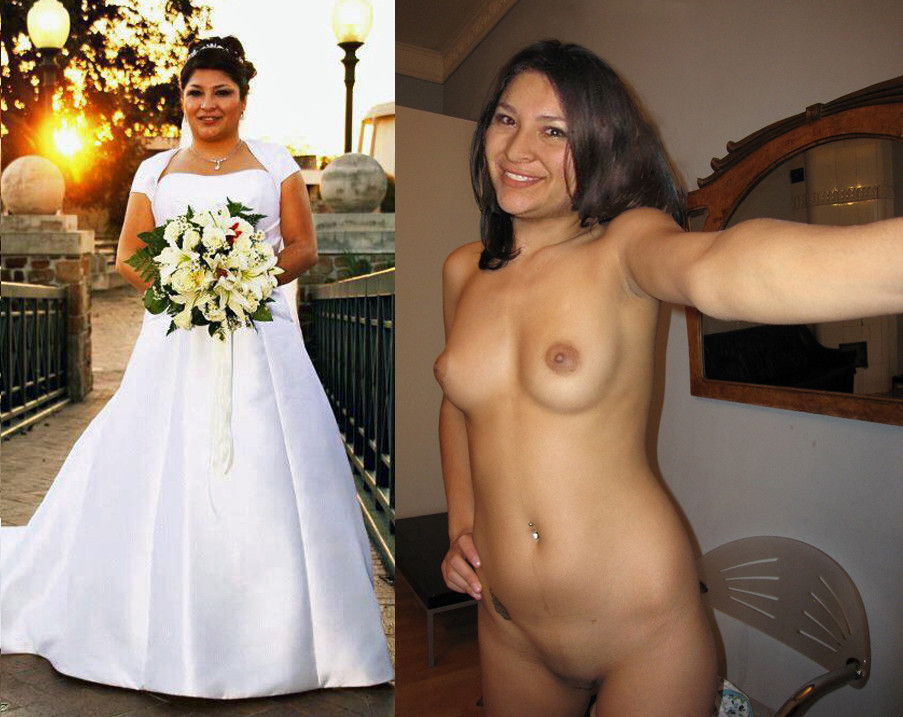 Naked married woman in public