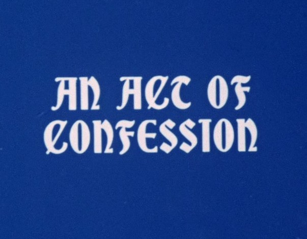 An Act of Confession