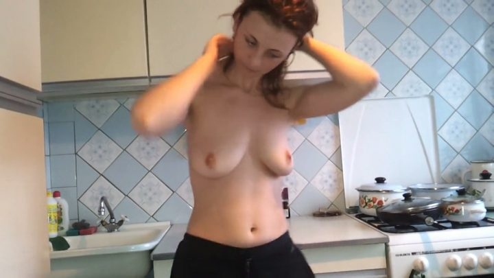 Naked Wife in the Kitchen