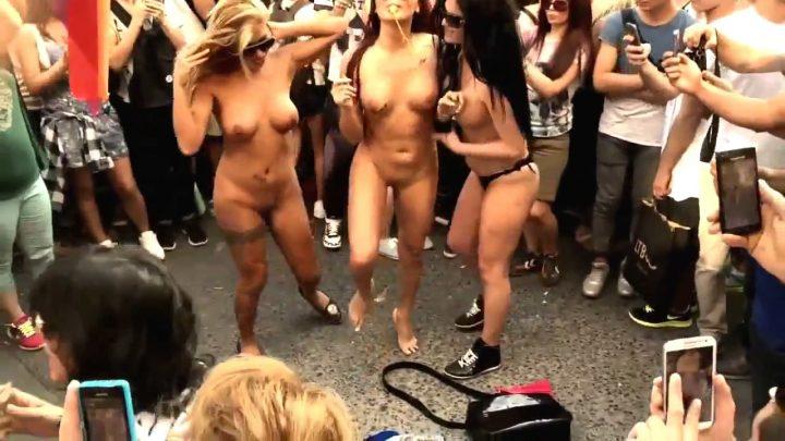 Nude Beauty Street Party