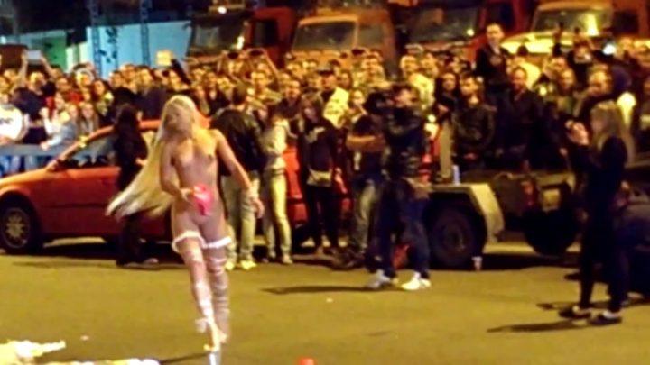 Public Strip in the Street Recing