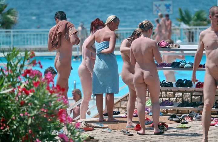 at the pool family nude