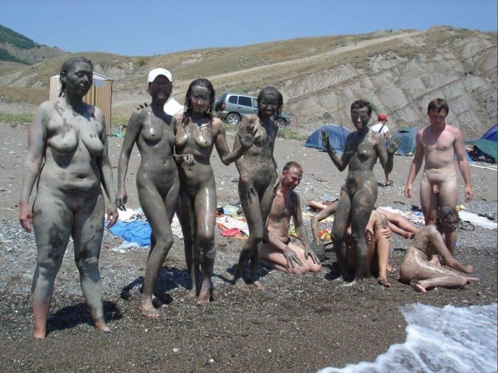 Words... Nudist mud bath right!