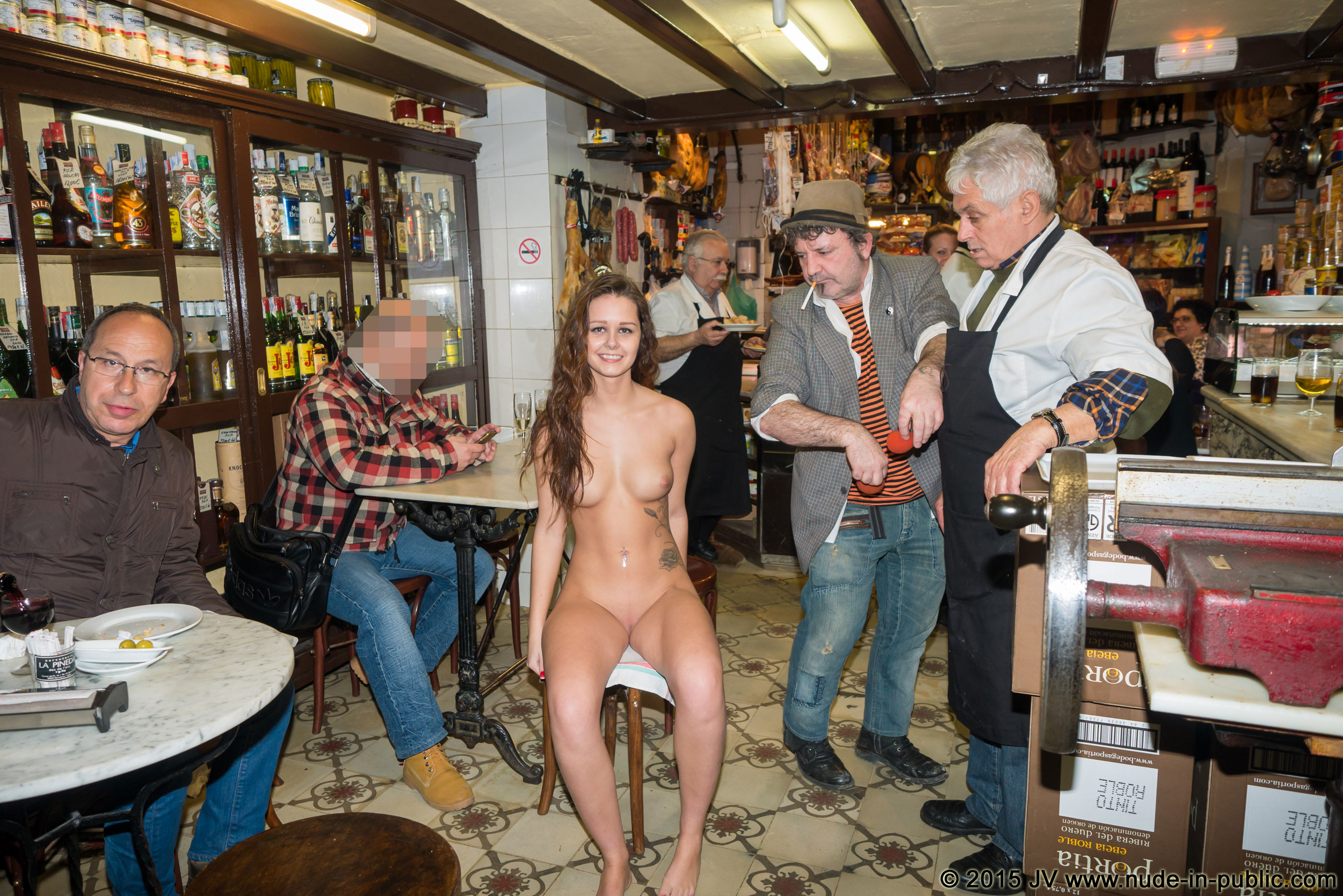 Naked in a pub