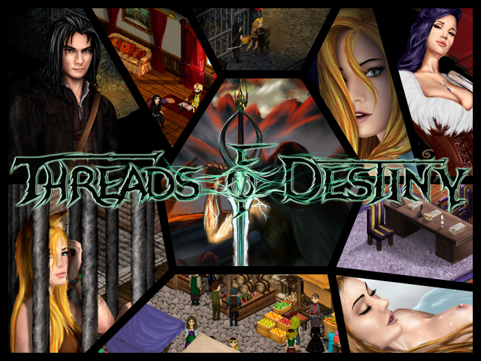 Threads of Destiny [InProgress, 0.1] (ElisarStudio) [uncen] [2017, ADV, RPG, Virgin, Fantasy, Demons, Elf, Maids, Pet, Pee, Slave, Lesbians, Masturbation, All sex, Female/male heroes] [rus + eng]
