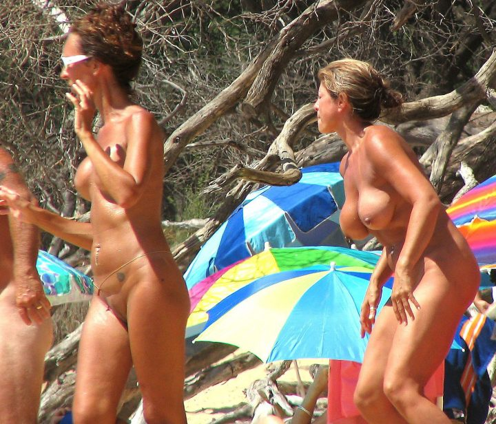 Nudists family nude beach