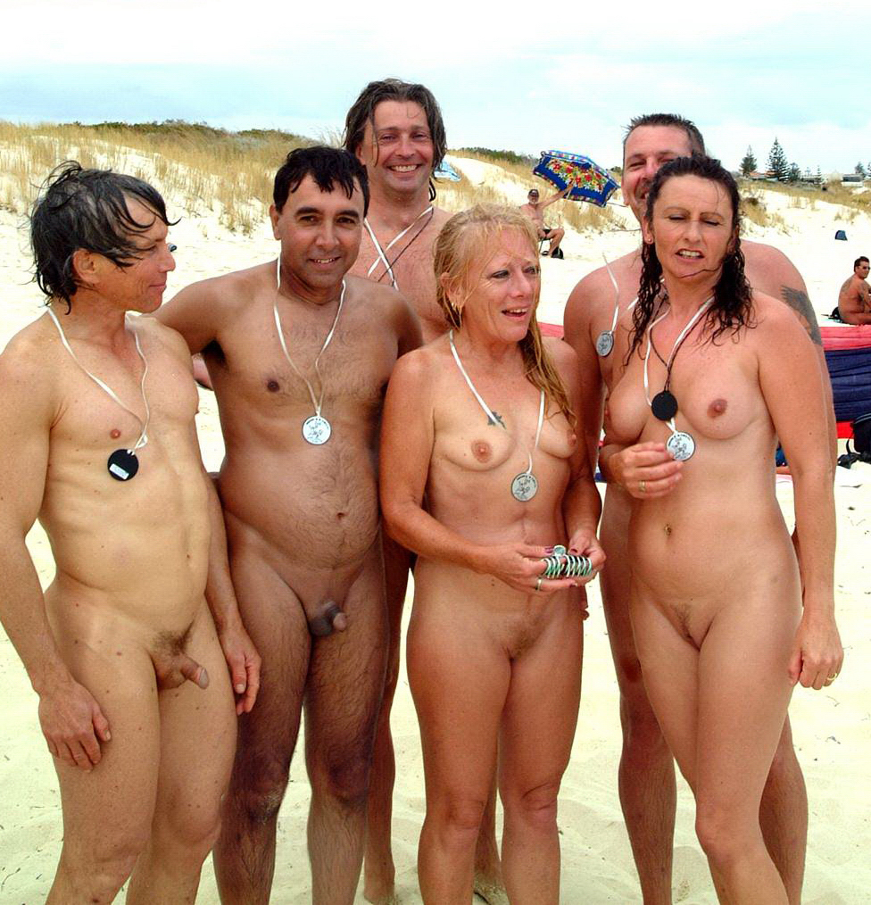 Teens with families at nude beaches in europe