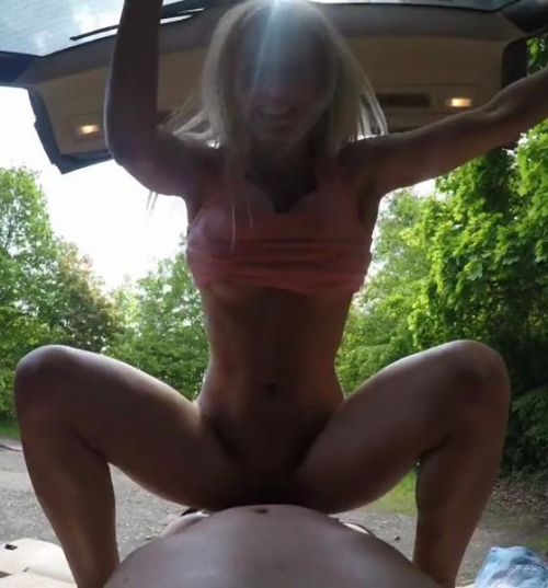 Nesty – Freaky Blonde Demand Sex Outside