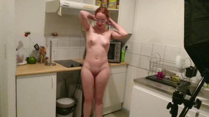 Naked Tifany in Kitchen
