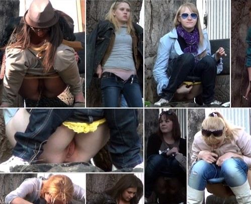 Girls pee in the car park 3