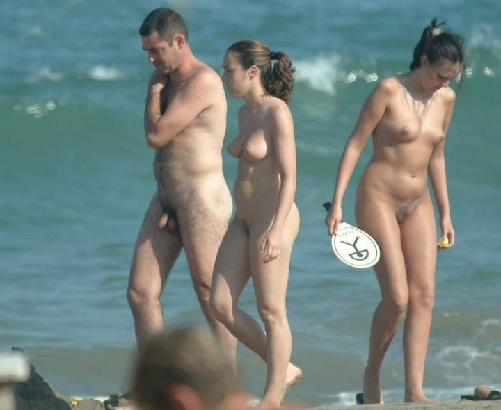 What words..., Nudist family beach with