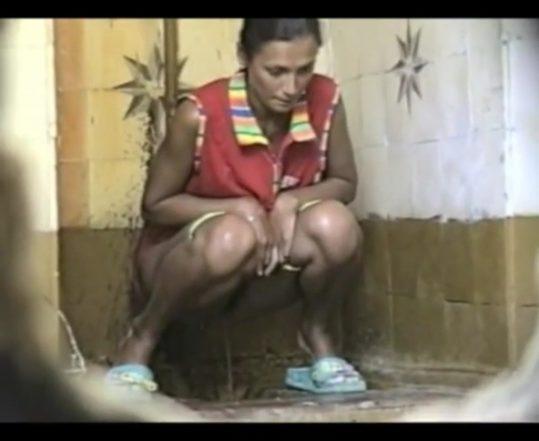 Russian dirty toilet hidden cam