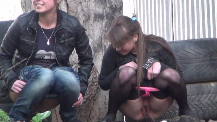 Russian voyeur outdoor pissing