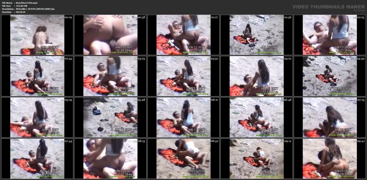 See passionate lovemaking on beach