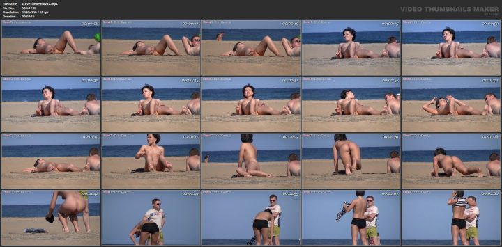 French Candid Topless And Nude Beach Videos