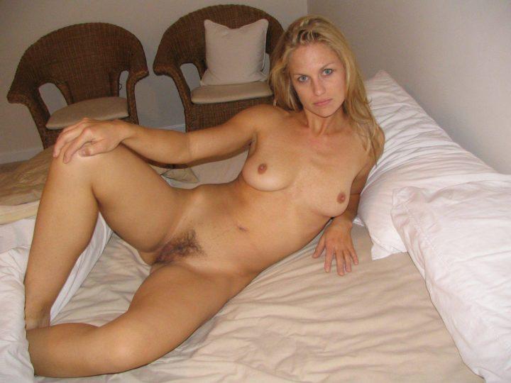 Blonde Mature Girlfriend With Blue Eyes Poses Sucks & Fucks