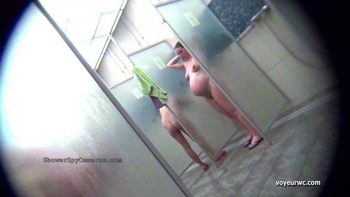Spy camera in a swimming pool shower 01-10