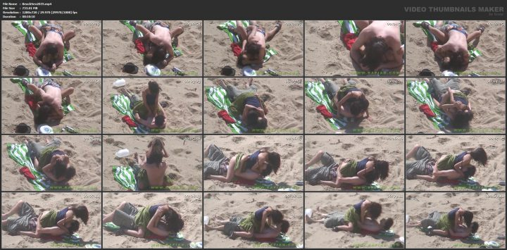 Voyeur public beach sex couple