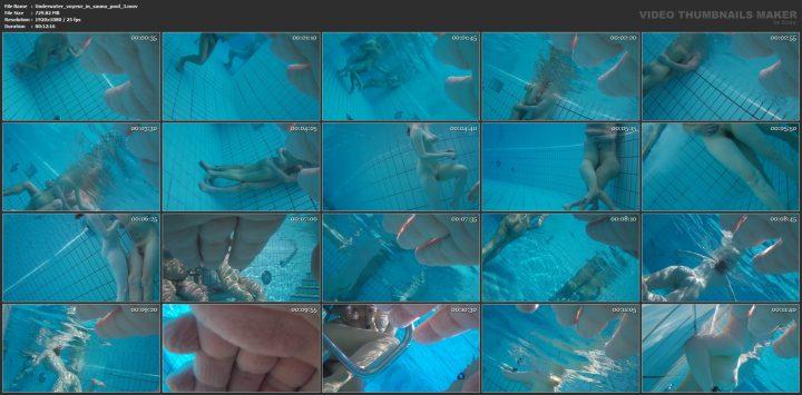Underwater voyeur in sauna pool 3