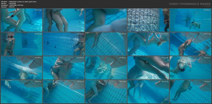 Underwater voyeur in sauna pool 6
