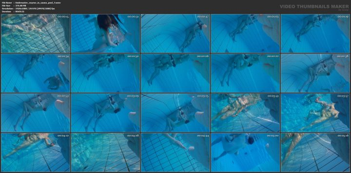 Underwater voyeur in sauna pool 7
