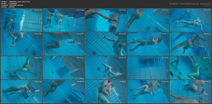 Underwater voyeur in sauna pool 11