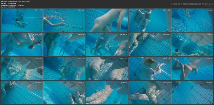 Underwater voyeur in sauna pool 9