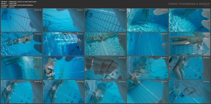 Underwater voyeur in sauna pool 2
