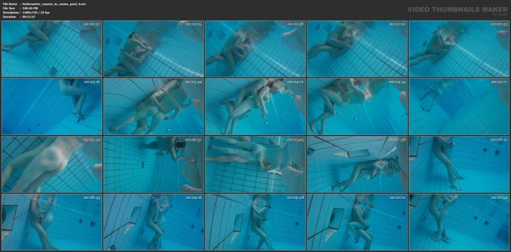 Underwater voyeur in sauna pool 4
