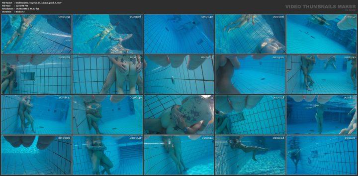 Underwater voyeur in sauna pool 5