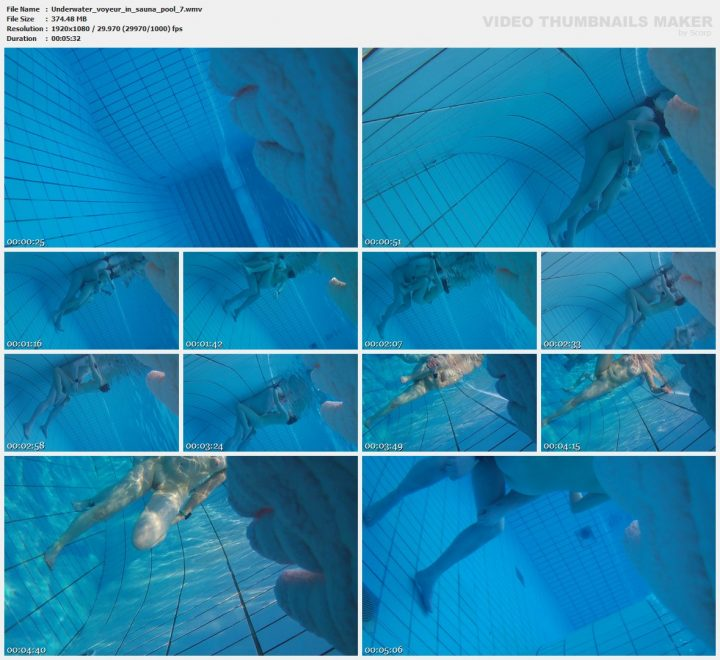 Underwater voyeur in sauna pool 7