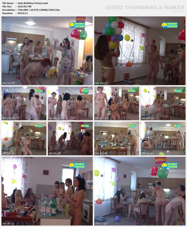 Family Pure Nudism Girls Birthday Party 2