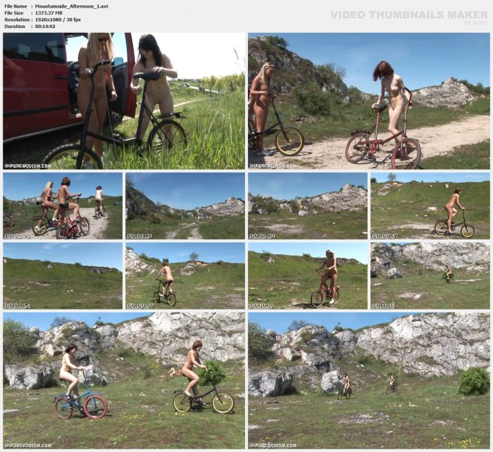 Family Pure Nudism Mountainside Afternoon 1
