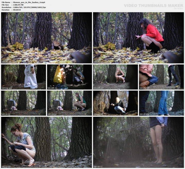 Women pee in the bushes 4