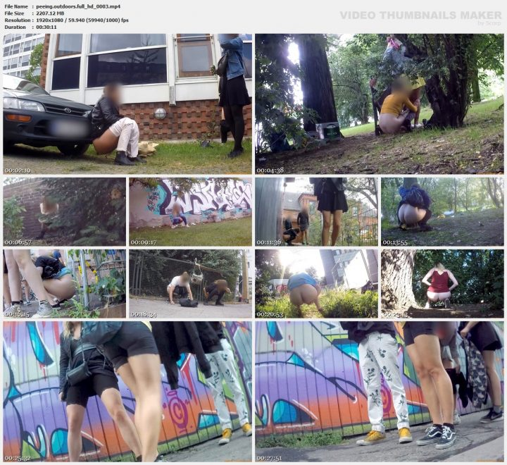 Peeing Outdoors full hd 0003