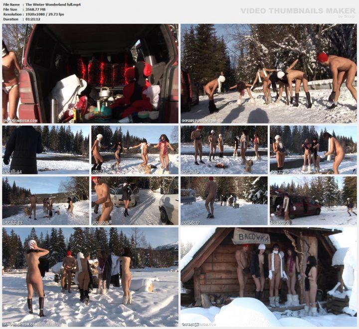 Family Pure Nudism The Winter Wonderland full