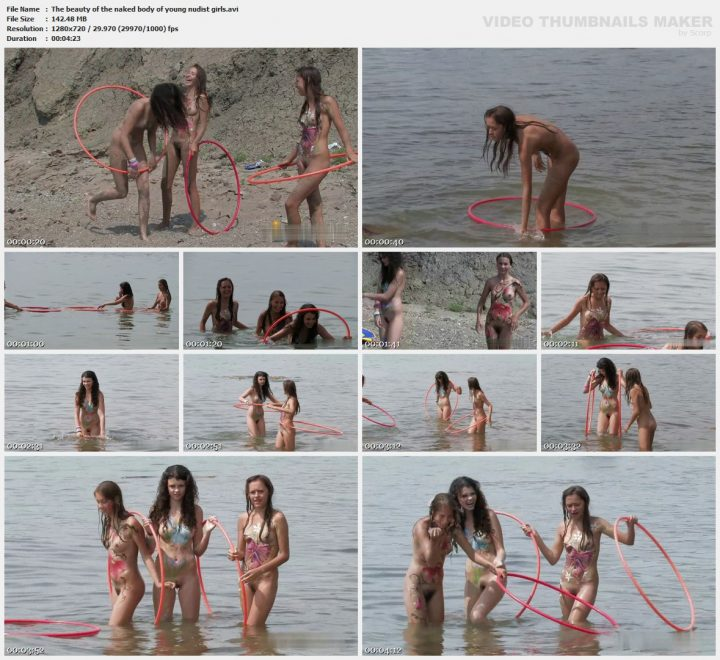 Family Pure Nudism The beauty of the naked body of young nudist girls