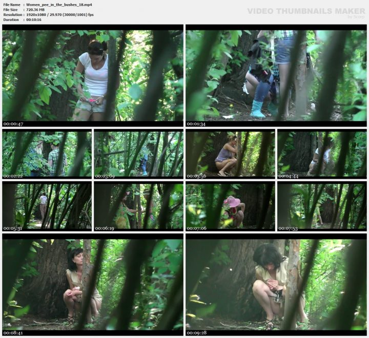 Women pee in the bushes 18