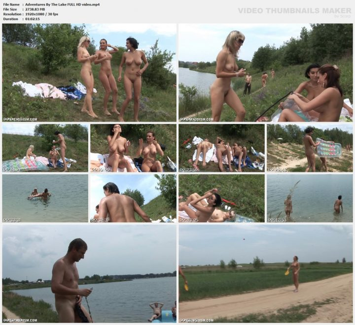 Family Pure Nudism Adventures By The Lake FULL HD video