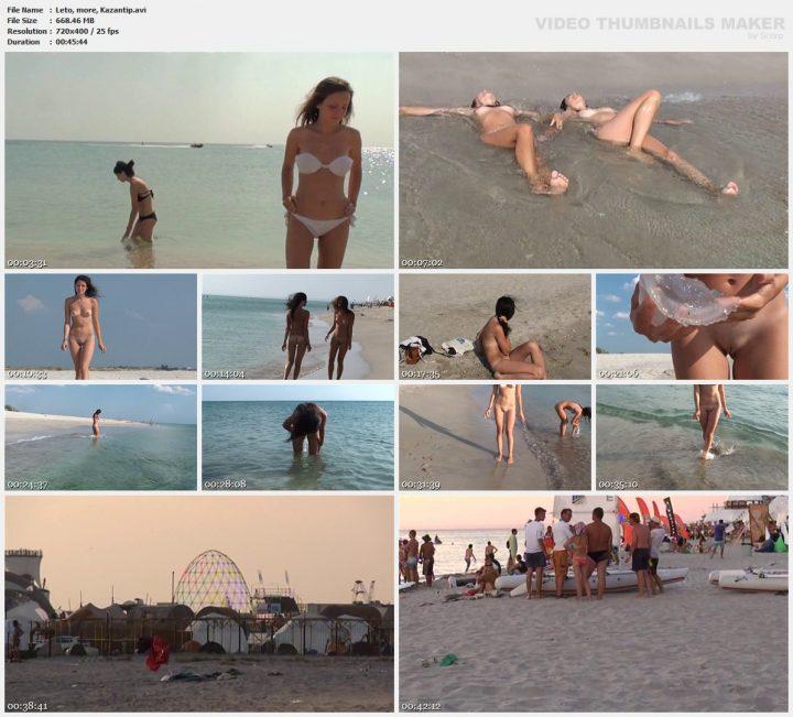 Family Pure Nudism Leto, more, Kazantip