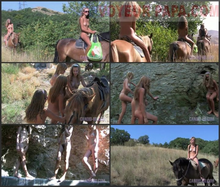 Family Pure Nudism Country Horse Ride