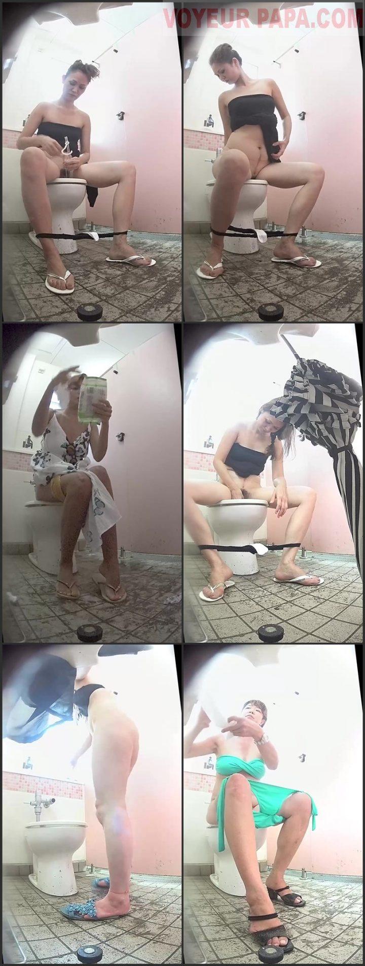 15304633 海の洋式トイレを撮ってみた!31尿道カテーテルで放尿する綺麗めな熟女
